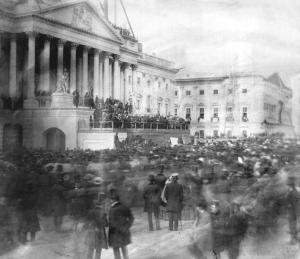 James Buchanan's inauguration, March 4, 1857. Photograph by John Wood. Montgomery C. Meigs Papers, Library of Congress.