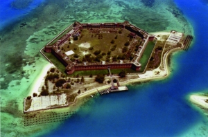 Fort Jefferson, Garden Key, Dry Tortugas, begun 1846. Monroe County. Architect: military engineers. Photocopy courtesy of Florida State Archives.