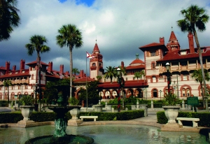 Ponce de leon Hotel, now Flagler College, St. Augustine, completed in May 1887, and opened January 1888. St. Johns County. Carrère and Hastings, architects. Photograph 2011 by the author.
