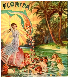 Victorian-era advertising for Murray and Lanman's Florida Water perfume took advantage of the health-giving reputation of Florida's waters, and featured beautiful women and elaborate fountains.