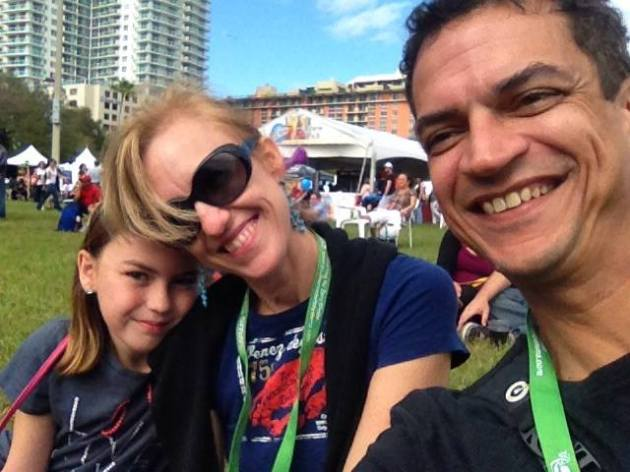 The author and her family enjoy Miami's Grove Art Fest.