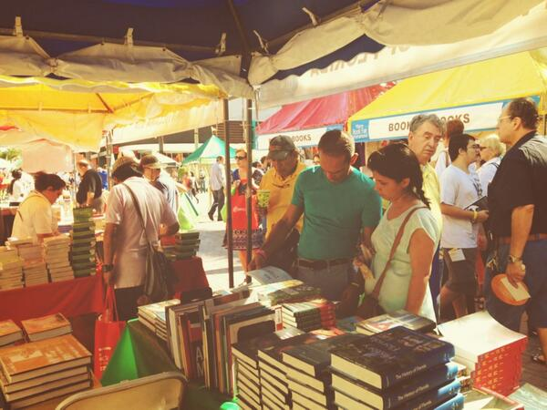 Despite thunderstorms, our two booths were busy.