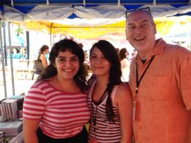 From left: Alia Almeida, former intern extraordinaire, Romi Gutierrez, and Dennis Lloyd
