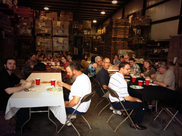 Annual Thanksgiving meal at UPF's warehouse