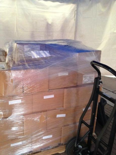 One of our two pallets of books
