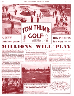 1930 ad for Tom Thumb Golf on Lookout Mountain, Tennessee