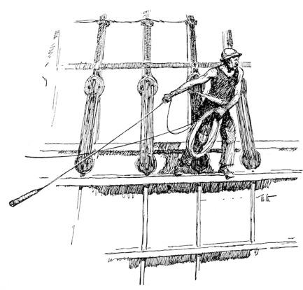 Heaving-the-lead line